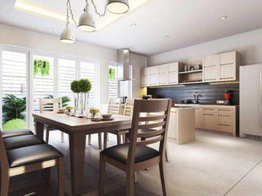 mẫu trần thạch cao phòng khách liền bếp, trần thạch cao phòng bếp hiện đại, mẫu trần thạch cao phòng khách nhà phố, mẫu trần thạch cao cho phòng khách liền bếp, mẫu trần thạch cao phòng bếp đẹp nhất, trần thạch cao đẹp 5