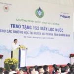 Nguyên chủ tịch nước Trương Tấn Sang tặng 152 máy lọc nước cho tỉnh Quảng Nam
