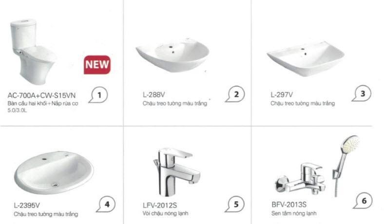 Báo giá combo trọn bộ thiết bị vệ sinh ở Vinh, Nghệ An giá ưu đãi, hàng chất lượng 4